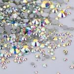 Cristale Unghii Tip Swarovski AB - Mix Marimi