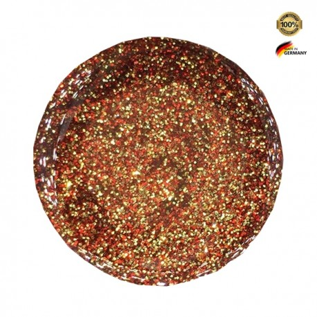 Gel UV Love Effect Classic Glitter Red Gold 5g
